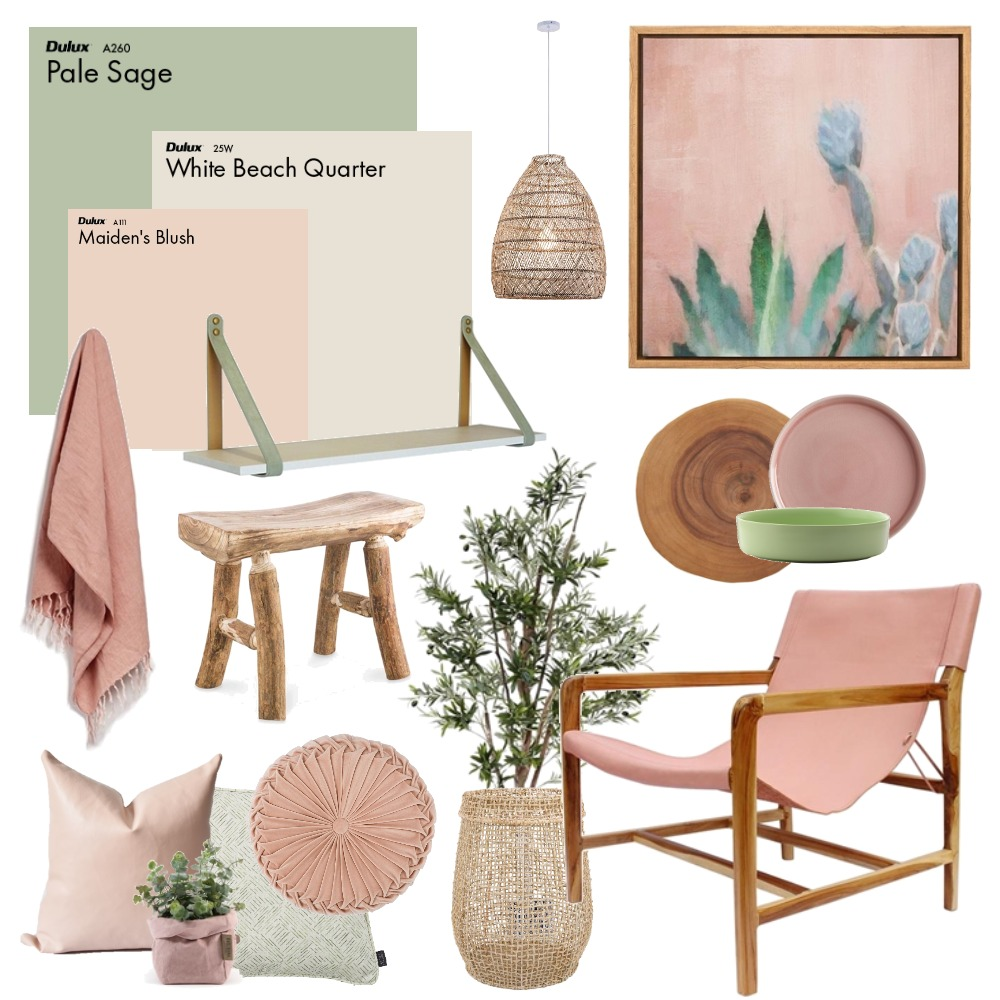 Sage & Blush Mood Board by Thediydecorator on Style Sourcebook