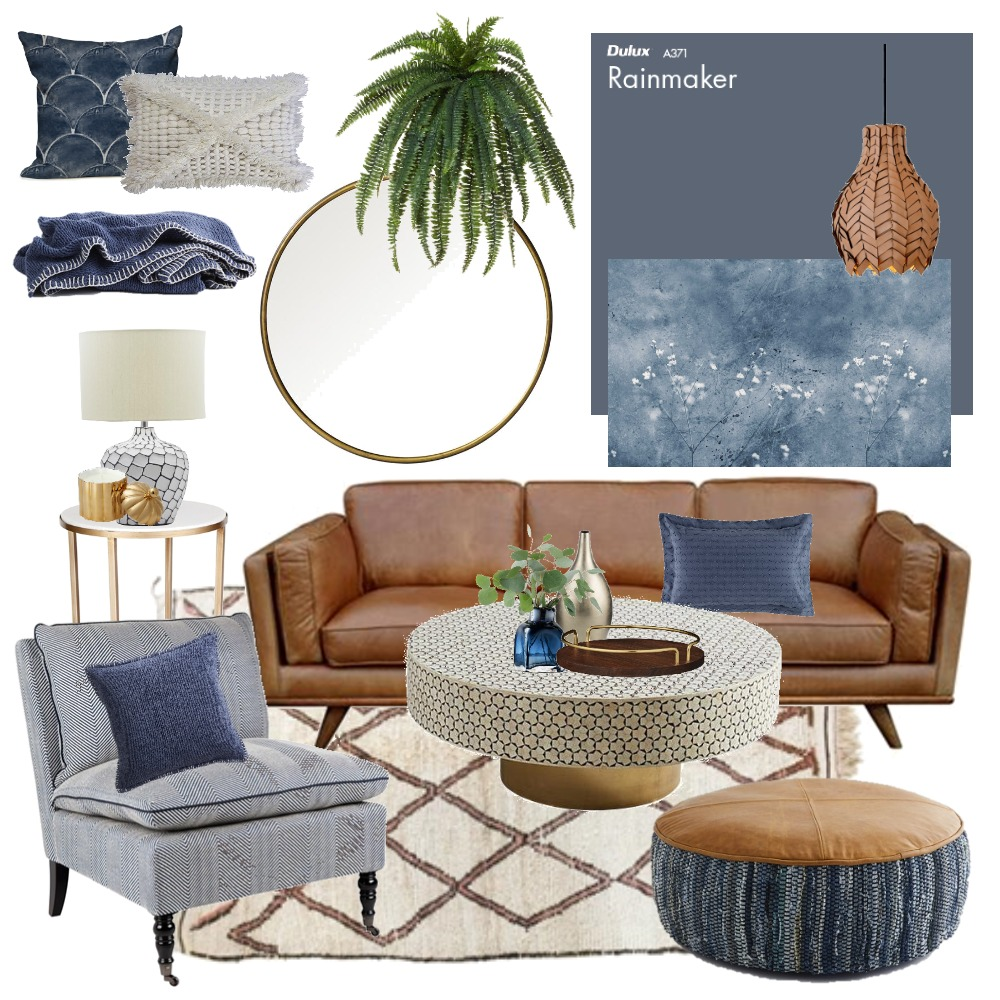Masculine Blues Interior Design Mood Board by Thediydecorator on Style Sourcebook