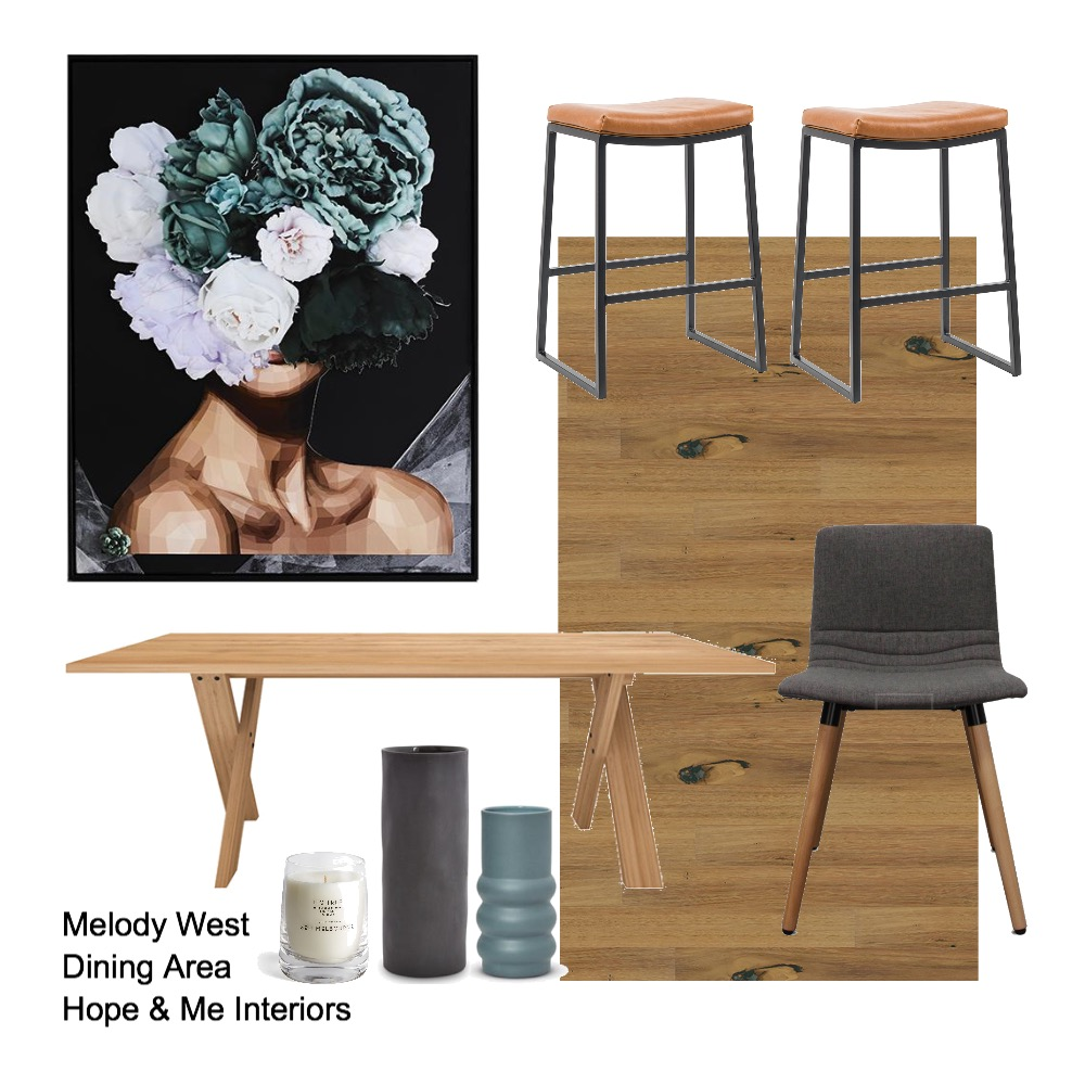 Melody West - Dining Area Mood Board by Hope & Me Interiors on Style Sourcebook