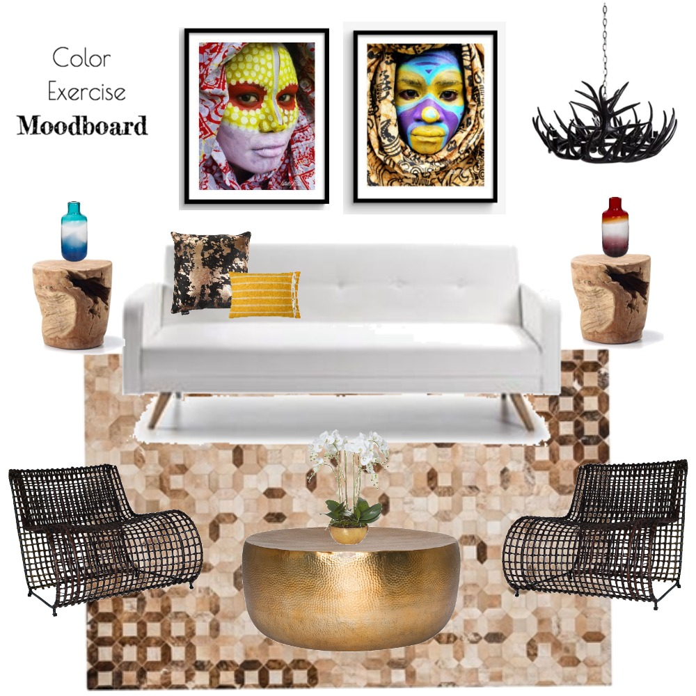 color exercise Interior Design Mood Board by anacai88 on Style Sourcebook