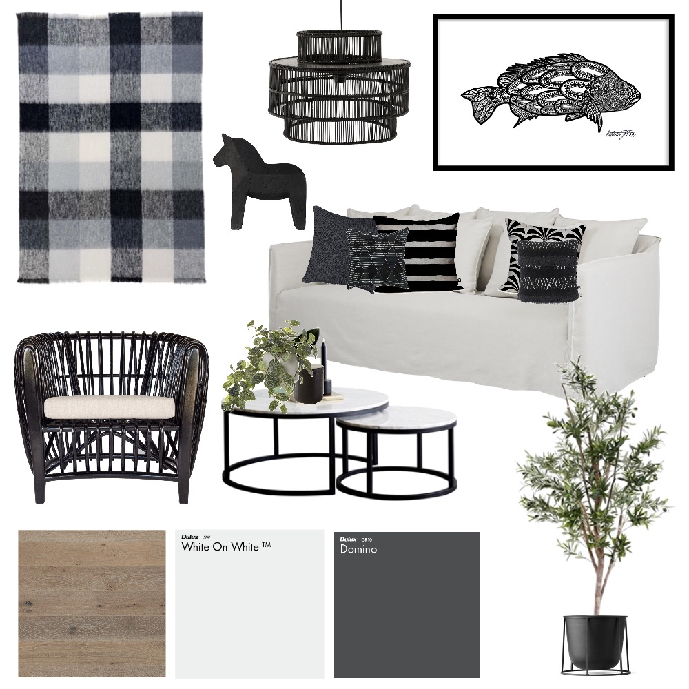 Black and White Mood Board by AlexClaremont on Style Sourcebook