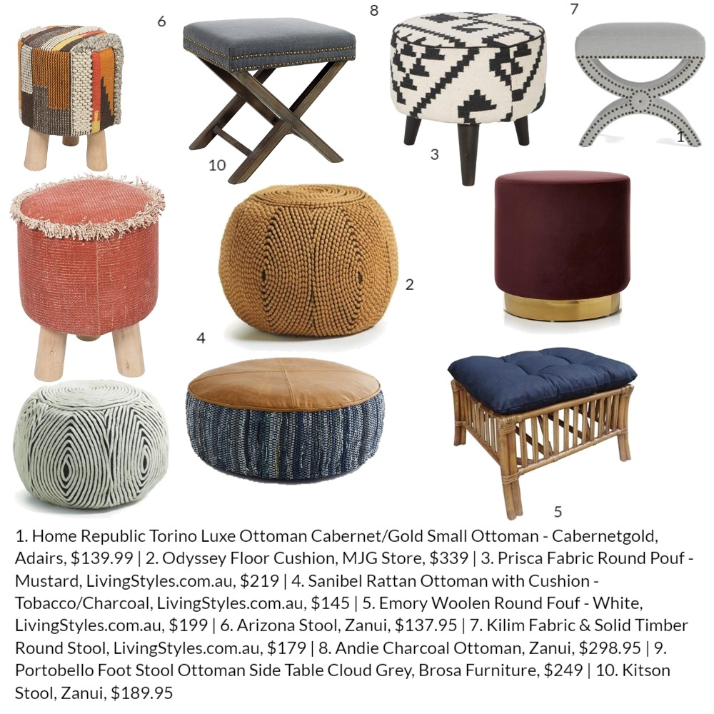 Top 10 Ottomans Interior Design Mood Board by Lupton Interior Design on Style Sourcebook