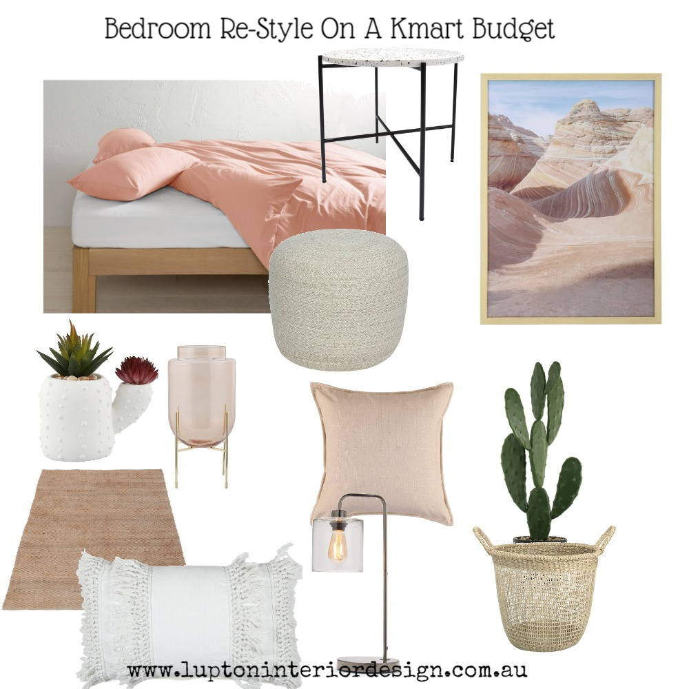 Desert Rose Bedroom On A Budget Mood Board by Lupton Interior Design on Style Sourcebook