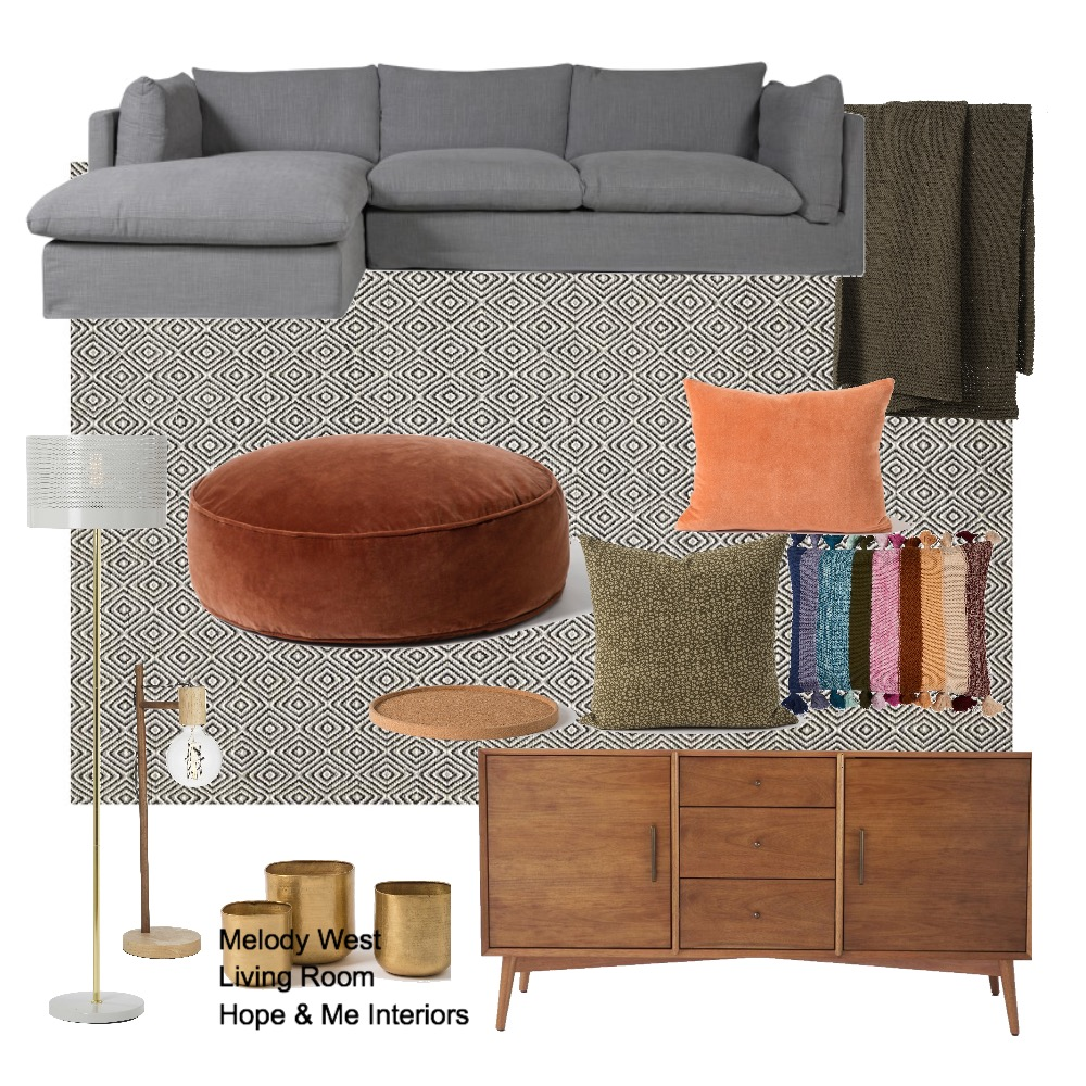 Melody West - Living Room Mood Board by Hope & Me Interiors on Style Sourcebook