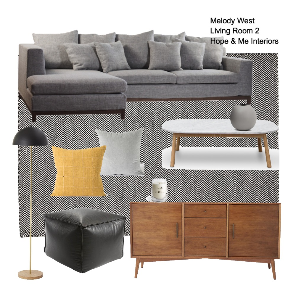 Melody West - Living Room 2 Mood Board by Hope & Me Interiors on Style Sourcebook