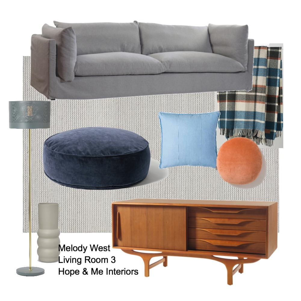 Melody West - Living Room 3 Mood Board by Hope & Me Interiors on Style Sourcebook