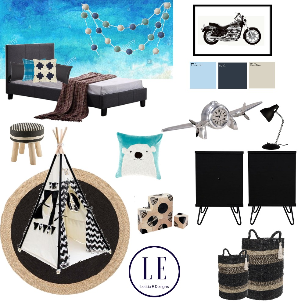 boys bedroom Mood Board by Letitiaedesigns on Style Sourcebook