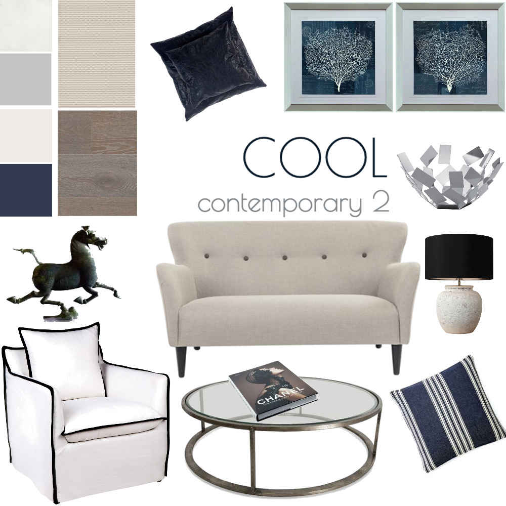 Cool contemporary 2 Interior Design Mood Board by www.susanwareham.com on Style Sourcebook
