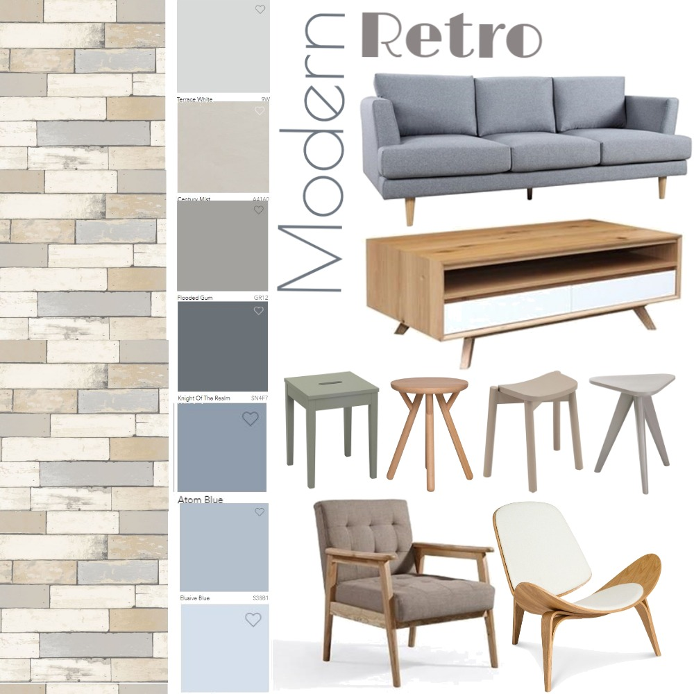 MODERN RETRO Interior Design Mood Board by Madre11 on Style Sourcebook