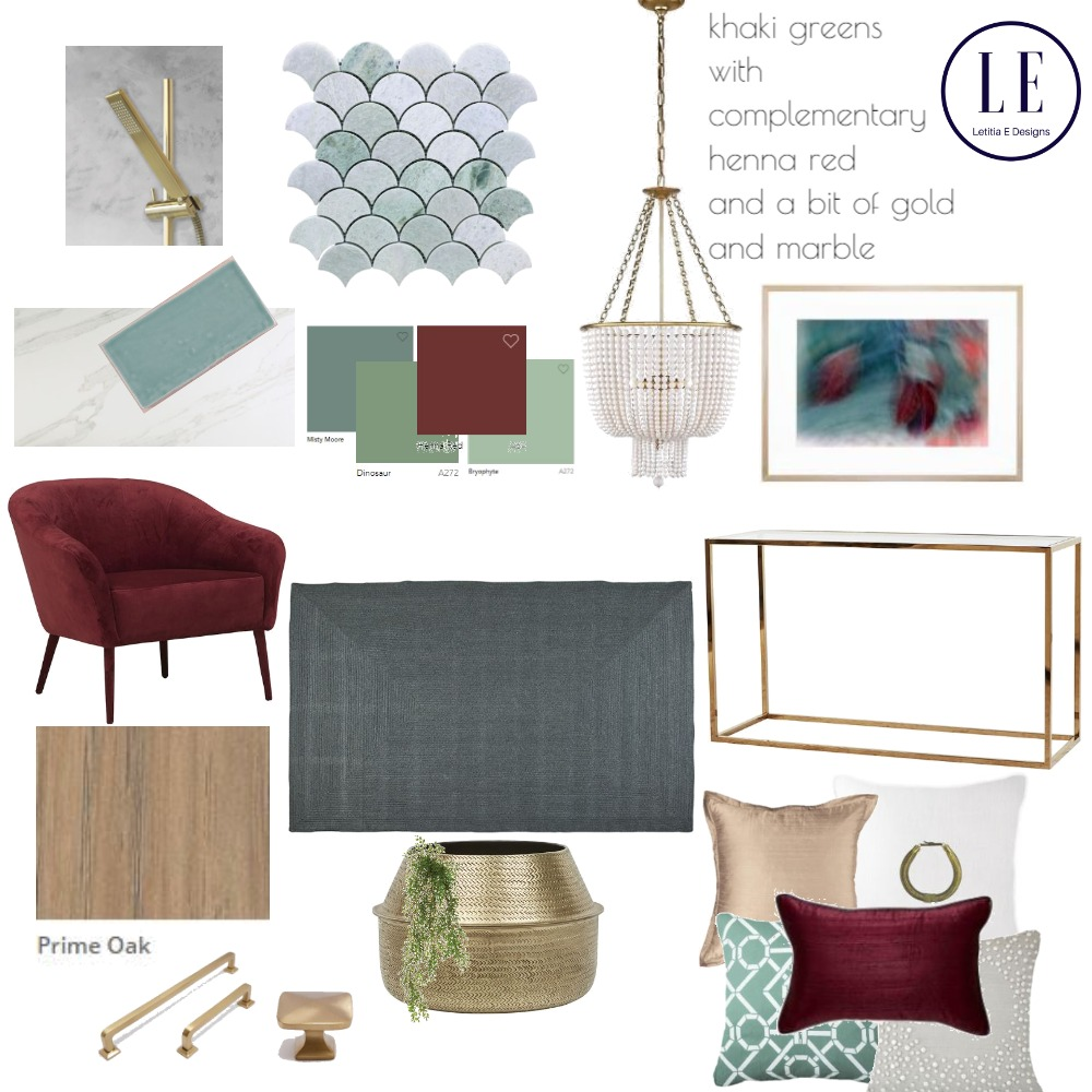 khaki and red Mood Board by Letitiaedesigns on Style Sourcebook