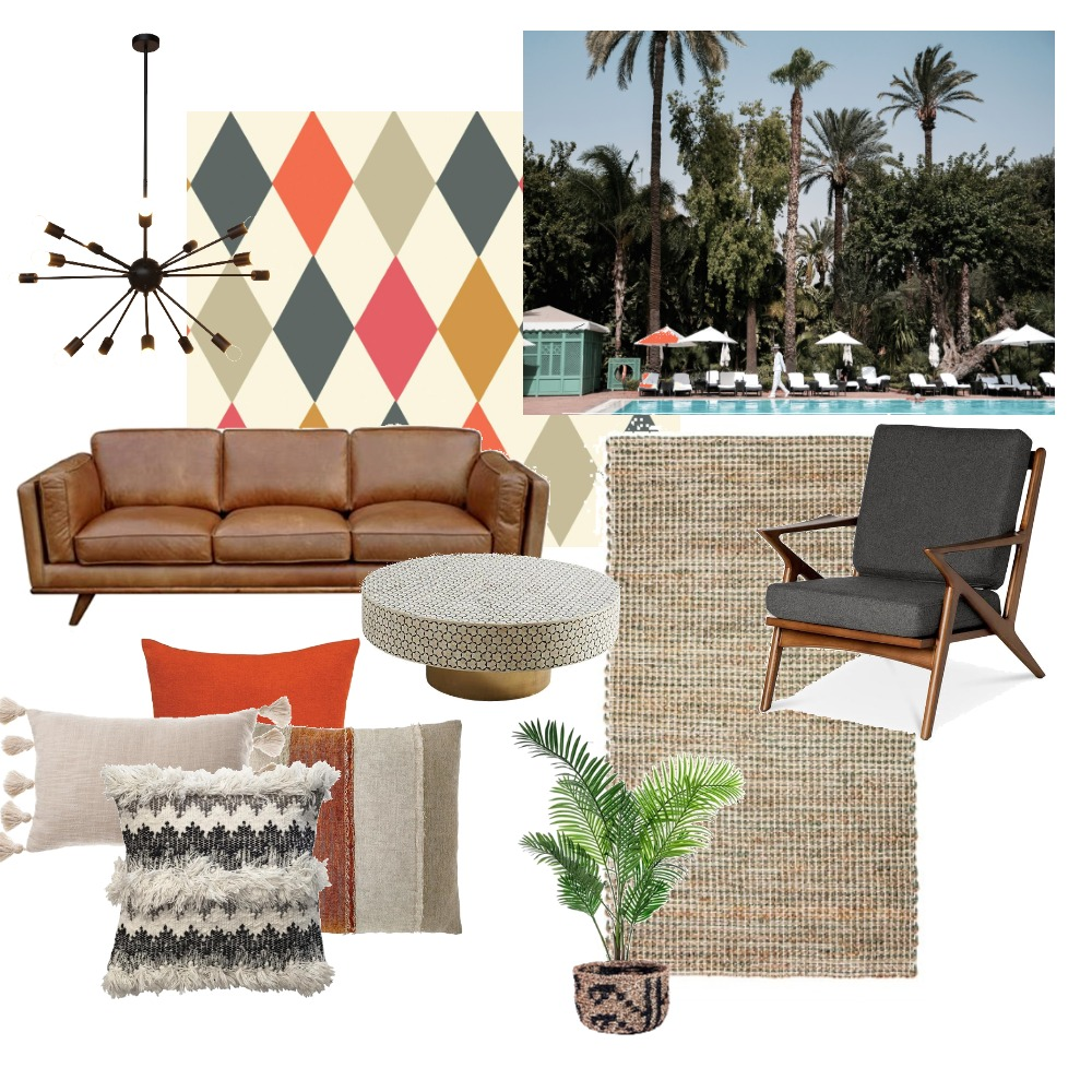 Palm Springs Living Room Mood Board by The Cali Design  on Style Sourcebook