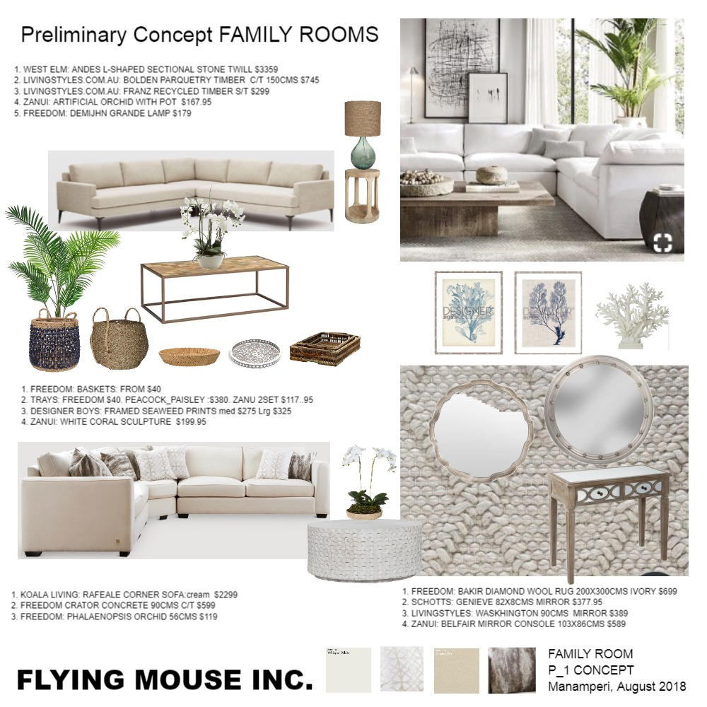 FAMILY ROOM Interior Design Mood Board by emmi_loulalay on Style Sourcebook
