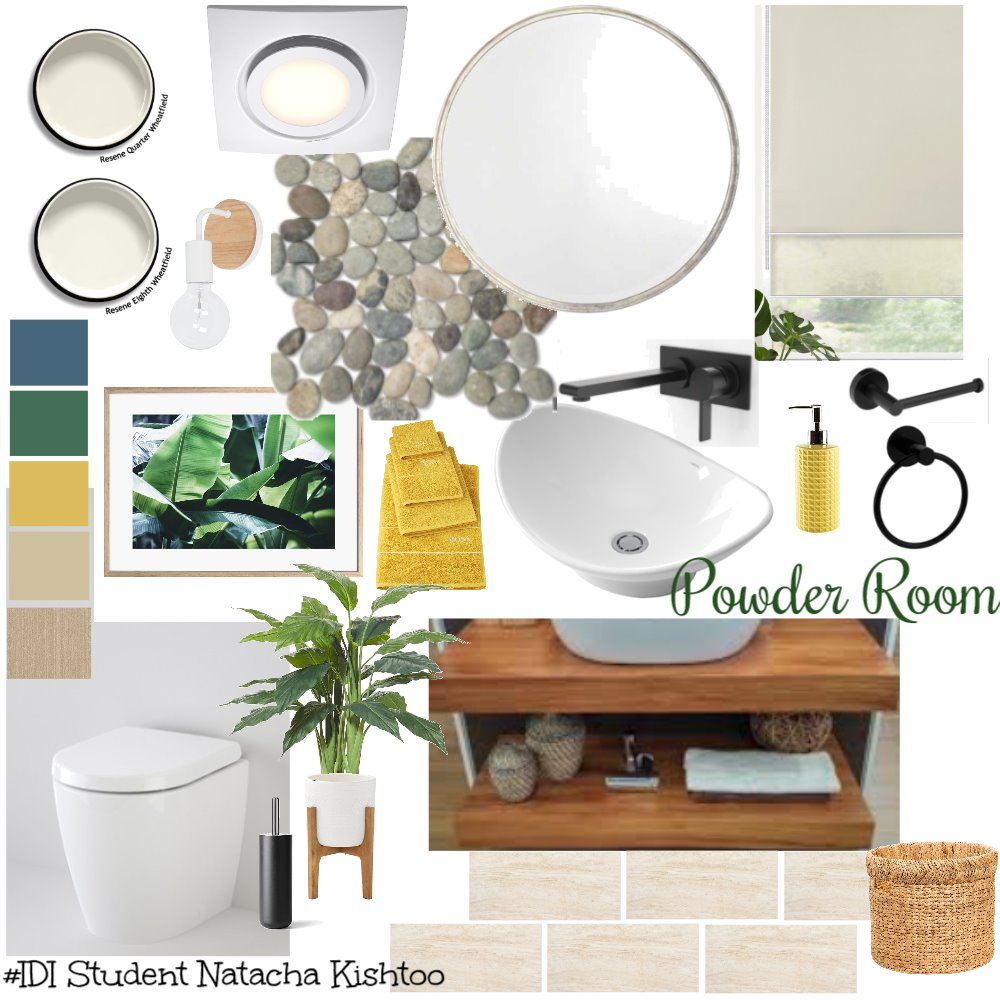 Tropical Powder Room Mood Board by Natacha on Style Sourcebook
