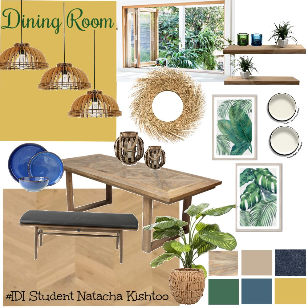 Tropical Dining Room Mood Board by Natacha on Style Sourcebook