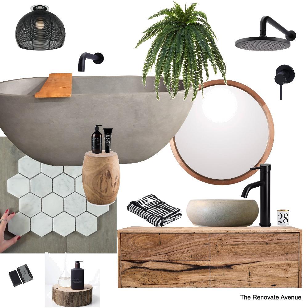 Bathroom black and grey Interior Design Mood Board by ClaudiaB on Style Sourcebook