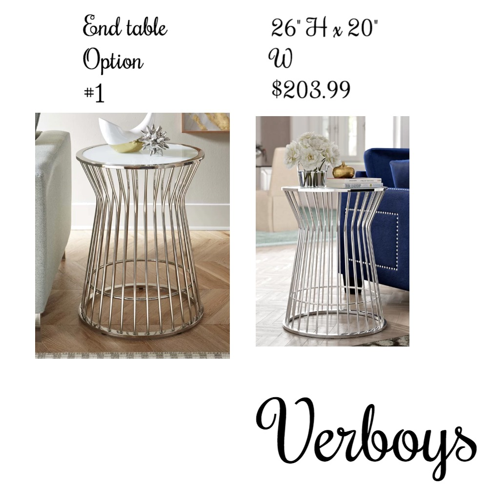 End table option #1 Mood Board by Venus Berríos on Style Sourcebook