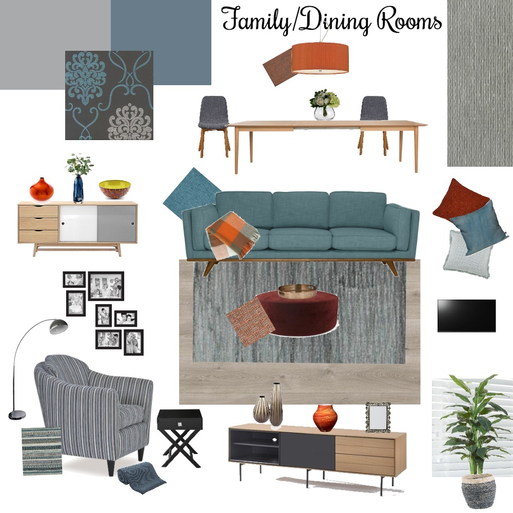 Module 9 family/dining mood board Interior Design Mood Board by Delcia on Style Sourcebook