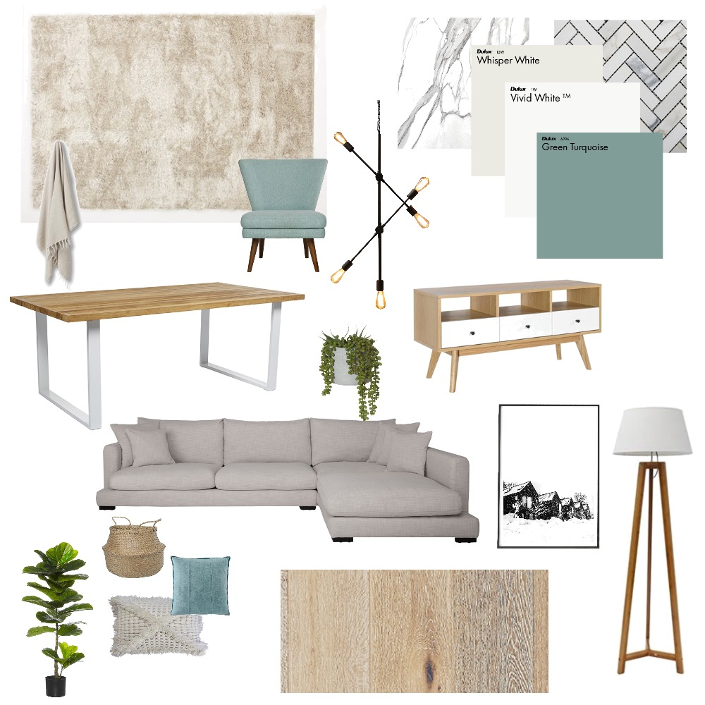 Scandi Teal Interior Design Mood Board by Joanne_Wilson on Style Sourcebook