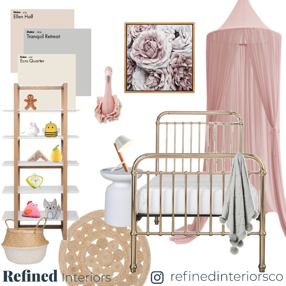 Girls Bedroom 01 Interior Design Mood Board by RefinedInteriors on Style Sourcebook