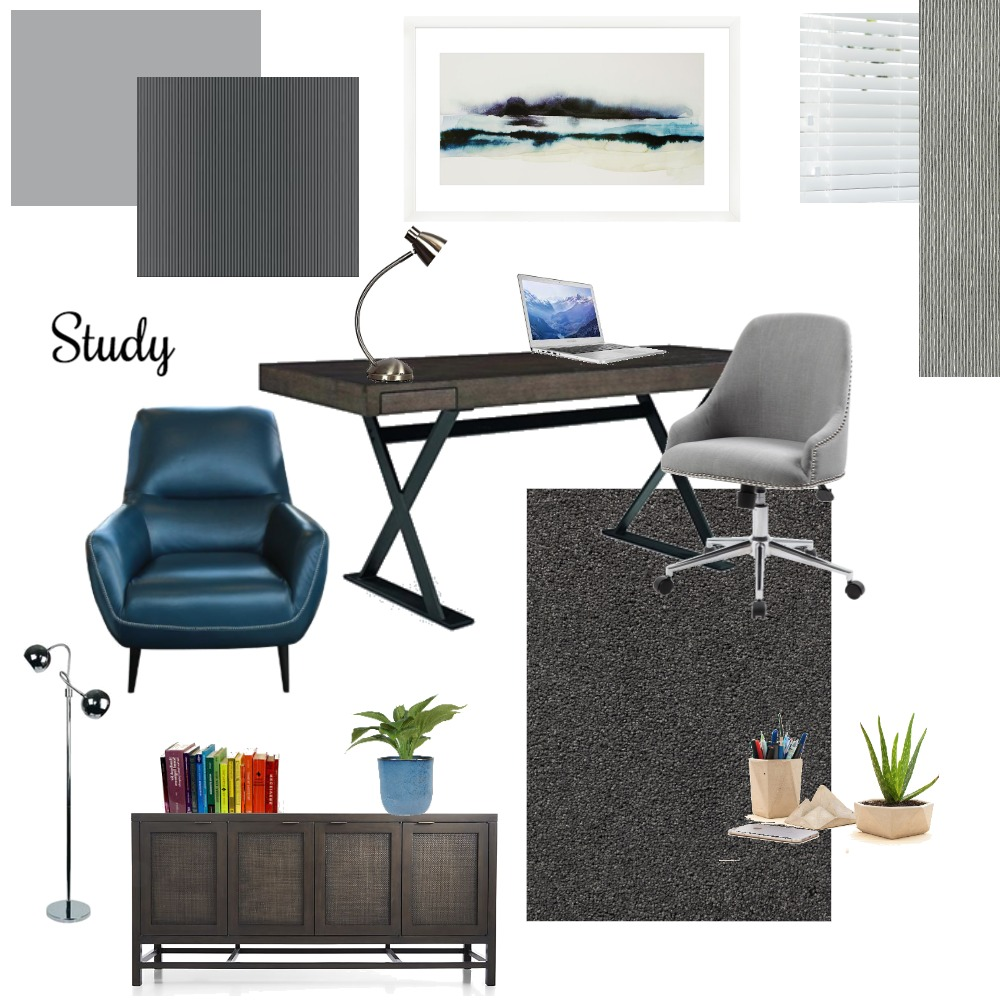 study Interior Design Mood Board by Delcia on Style Sourcebook