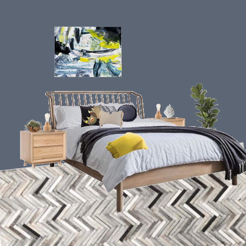 Moody Bedroom Interior Design Mood Board by KellyByrne on Style Sourcebook
