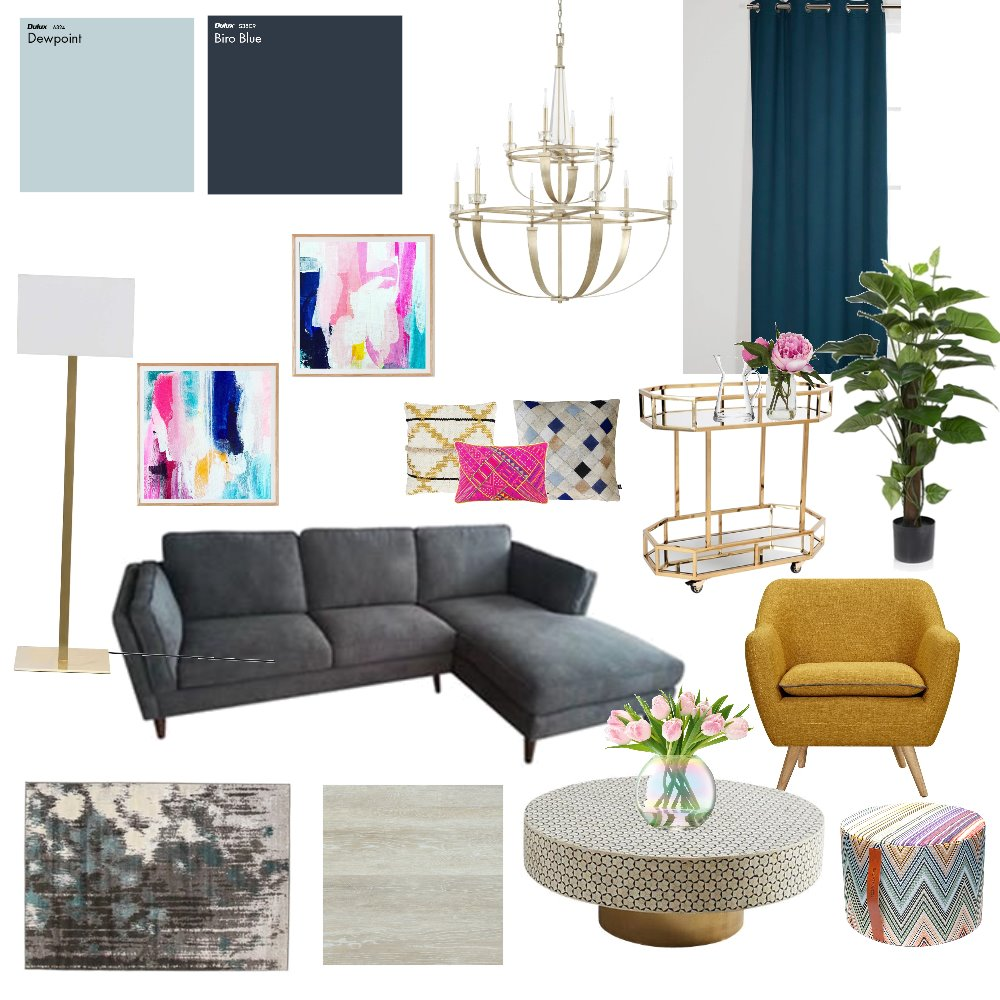 Living Interior Design Mood Board by heidi on Style Sourcebook