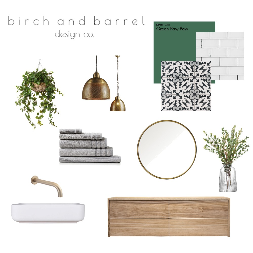 Powder Room Interior Design Mood Board by ashleecarter on Style Sourcebook