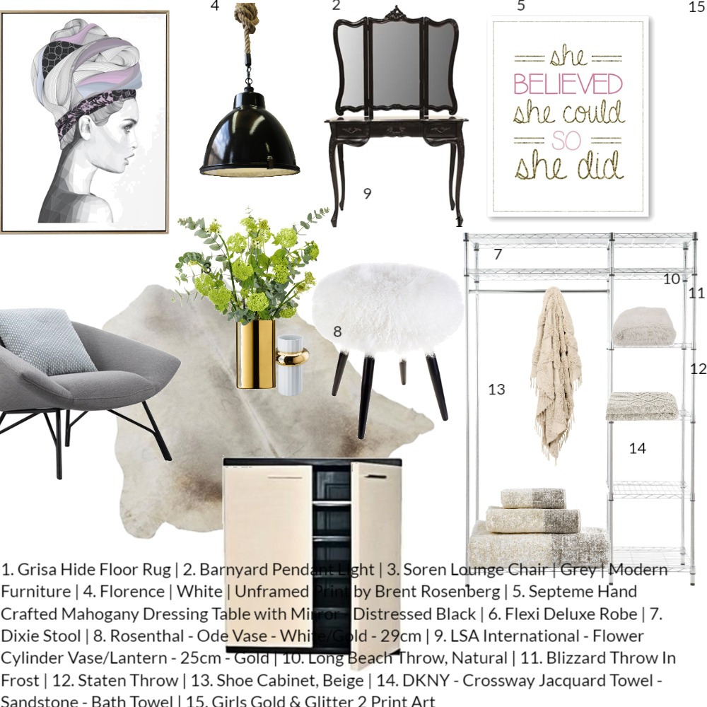 Dressing Room Interior Design Mood Board by Volha Interiors & Staging on Style Sourcebook