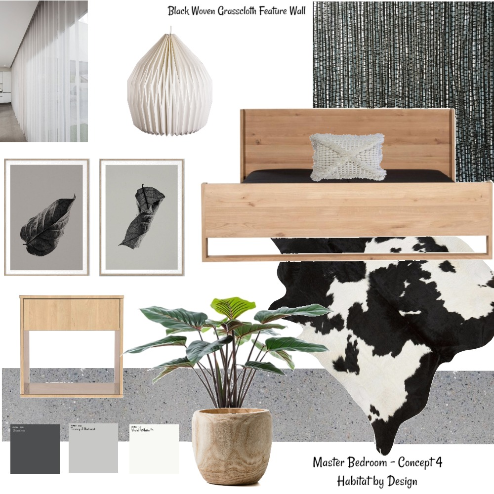Master Bedroom Concept 4 Interior Design Mood Board by Habitat_by_Design on Style Sourcebook
