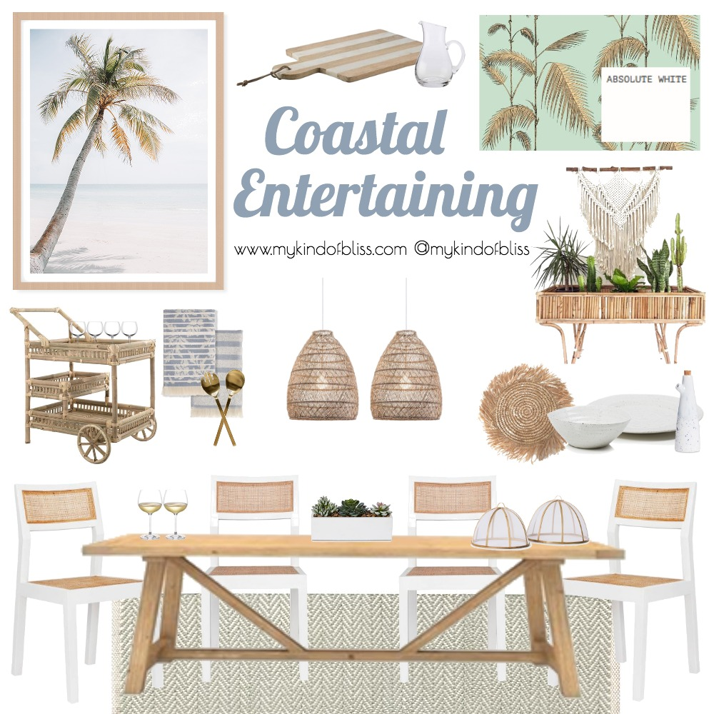 Coastal Entertaining Mood Board by My Kind Of Bliss on Style Sourcebook