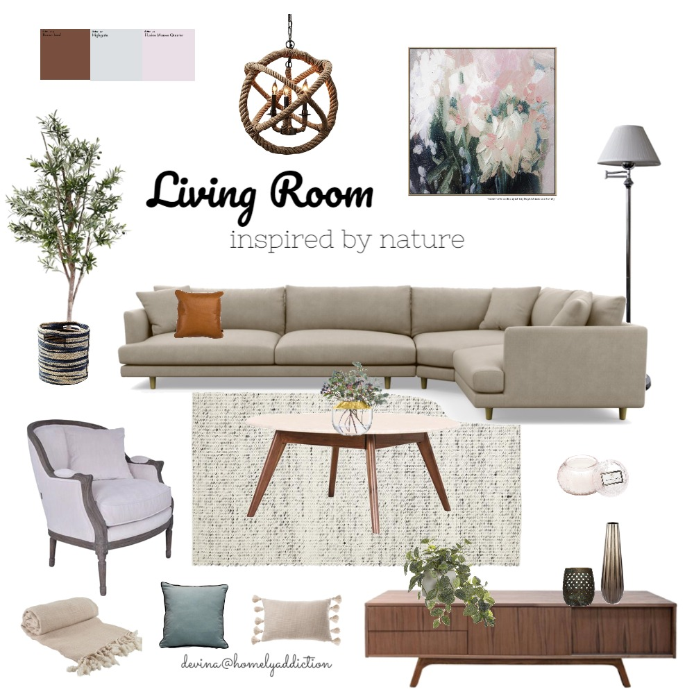 Living room Mt Waverley Interior Design Mood Board by HomelyAddiction on Style Sourcebook