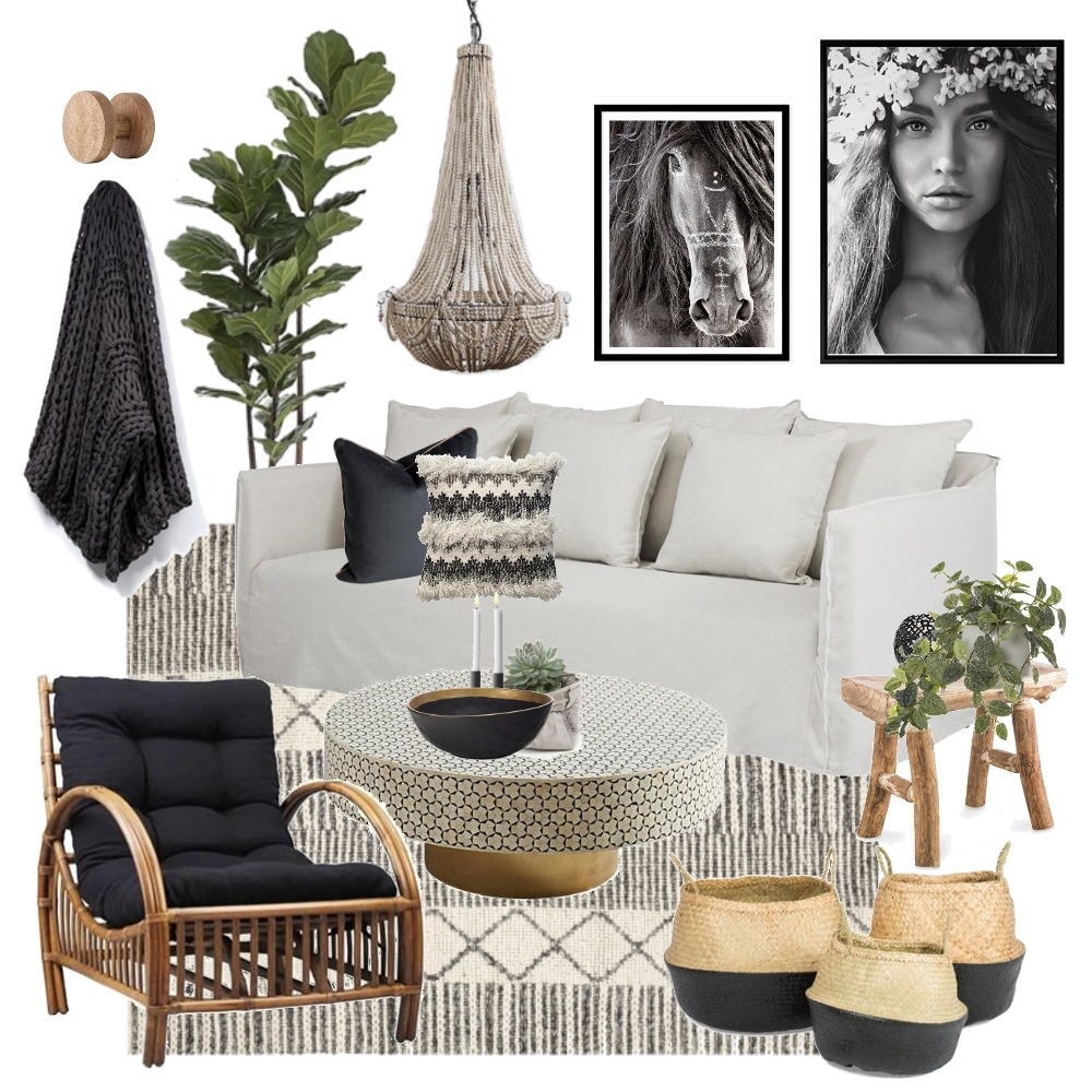 Boho luxe Interior Design Mood Board by Thediydecorator on Style Sourcebook