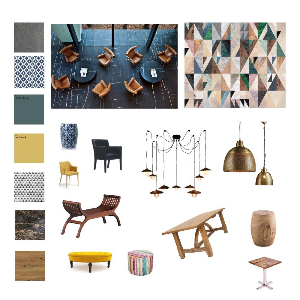 לוח השראה סטודיו מסחר Interior Design Mood Board by yoni on Style Sourcebook