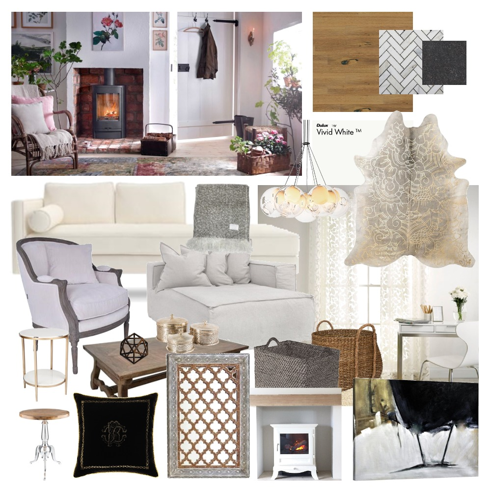 Cosy Cottage Interior Design Mood Board by Sabatino on Style Sourcebook