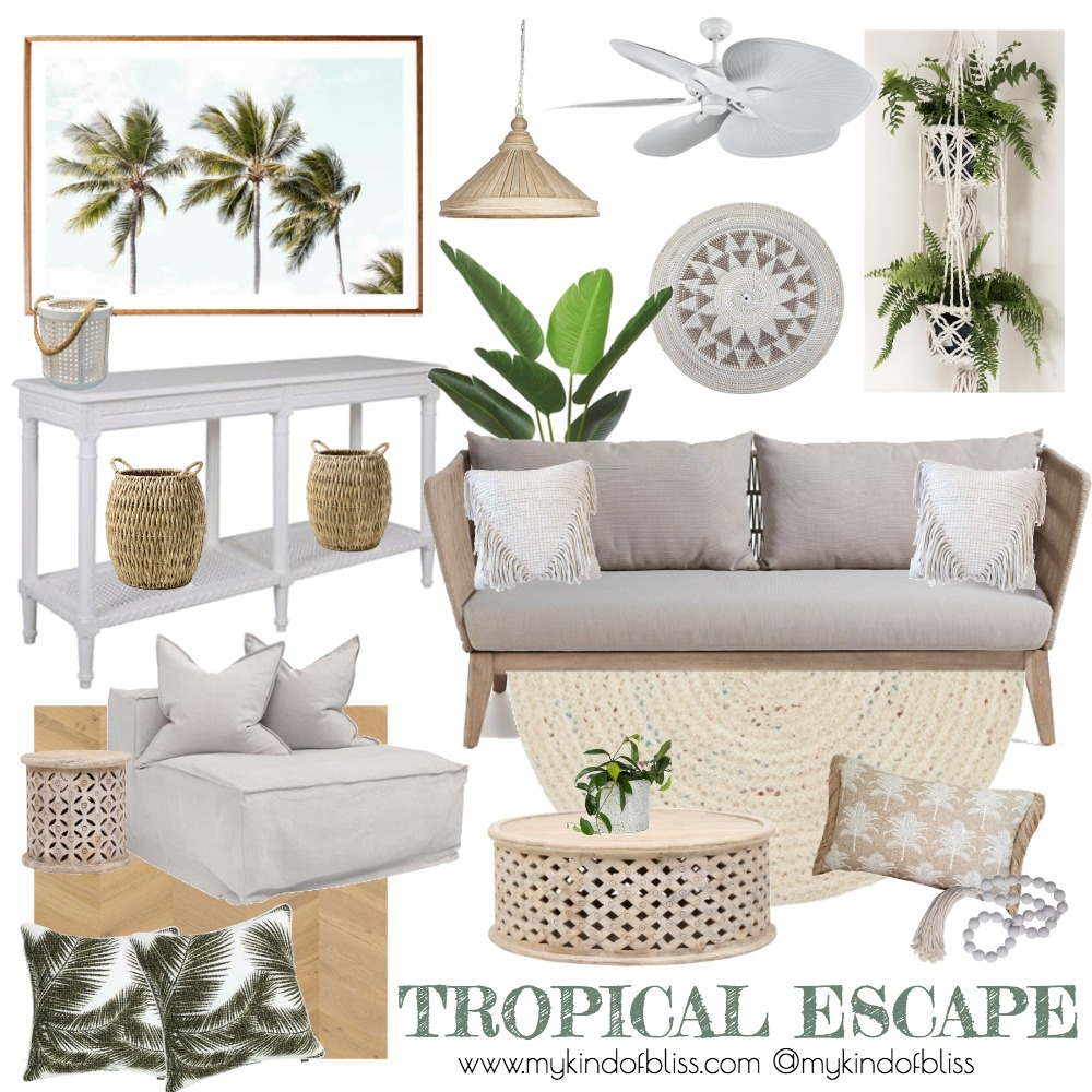 Take Me to the Tropics Interior Design Mood Board by My Kind Of Bliss on Style Sourcebook
