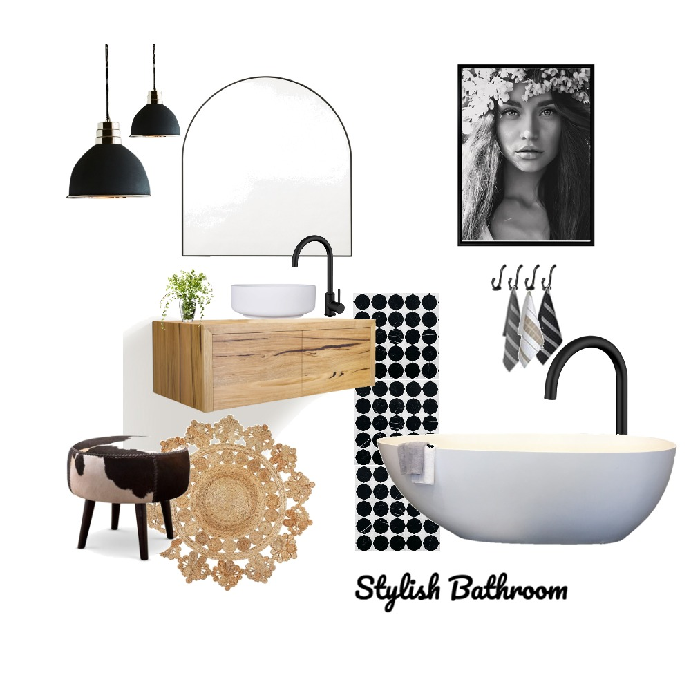 Stylish Bathroom Interior Design Mood Board by Just In Place on Style Sourcebook