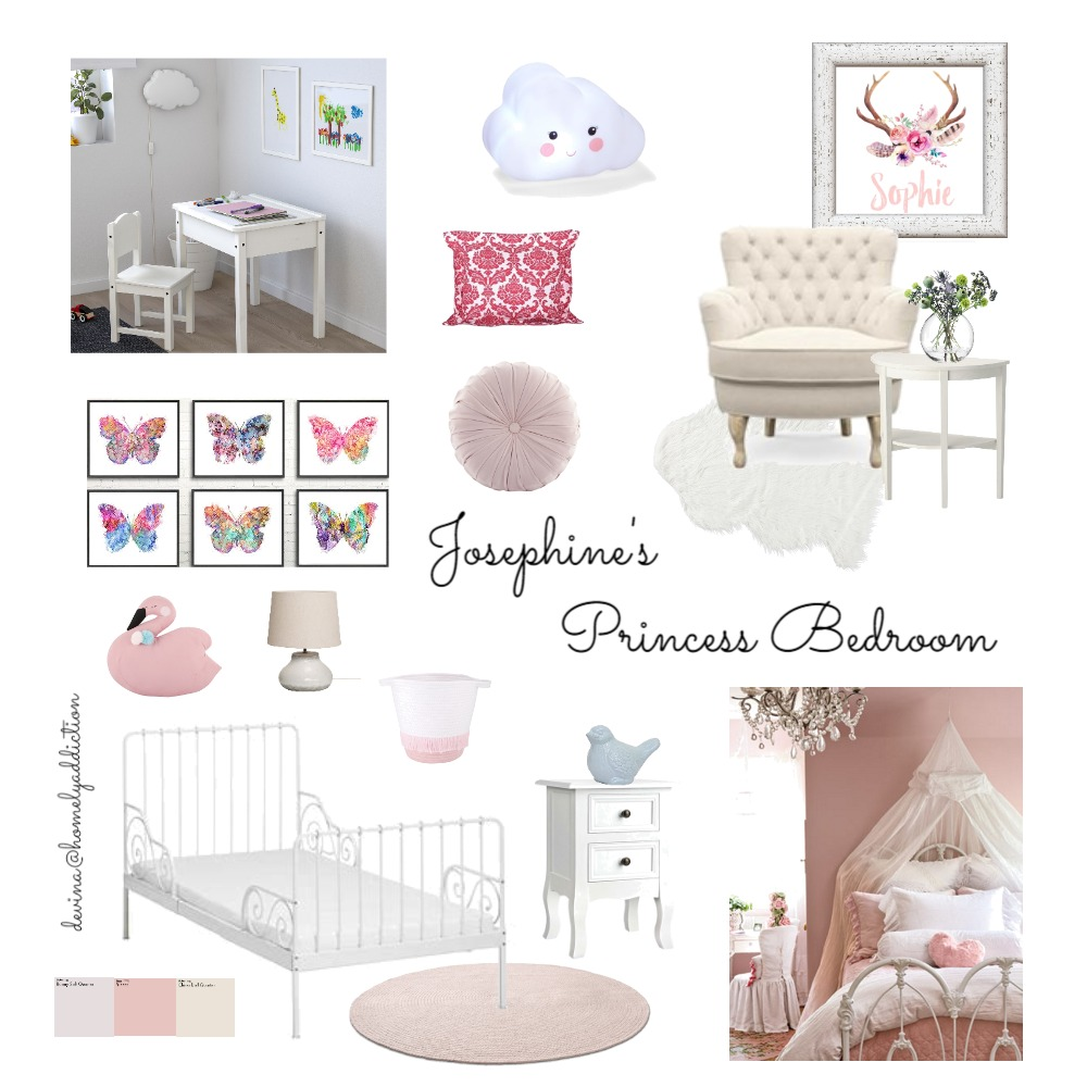 Josephine's room Interior Design Mood Board by HomelyAddiction on Style Sourcebook