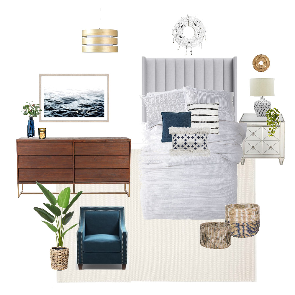 Hampton's Master Bedroom Retreat Interior Design Mood Board by JessicaFloodDesign on Style Sourcebook