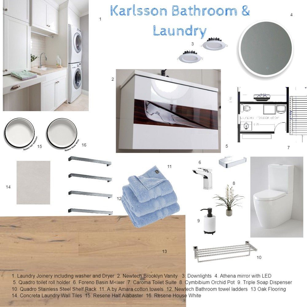 Karlsson Laundry Bathroom Sample Board 3 Interior Design Mood Board By Kiwistyler Style Sourcebook
