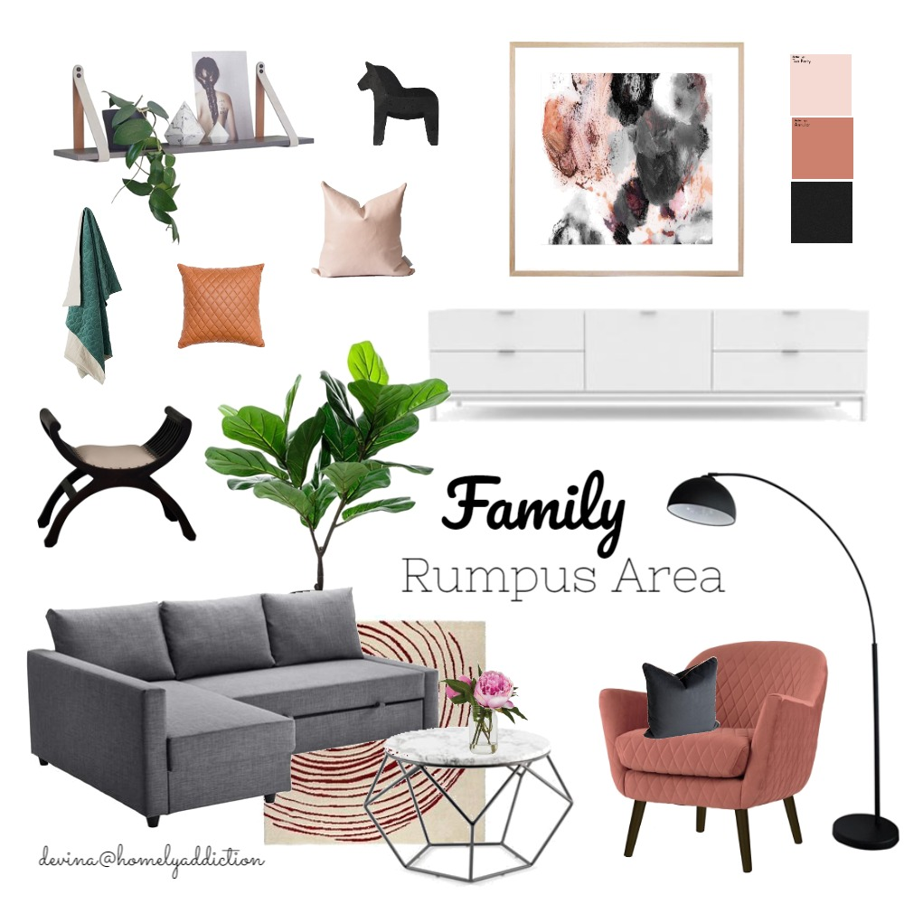 Rumpus room Interior Design Mood Board by HomelyAddiction on Style Sourcebook