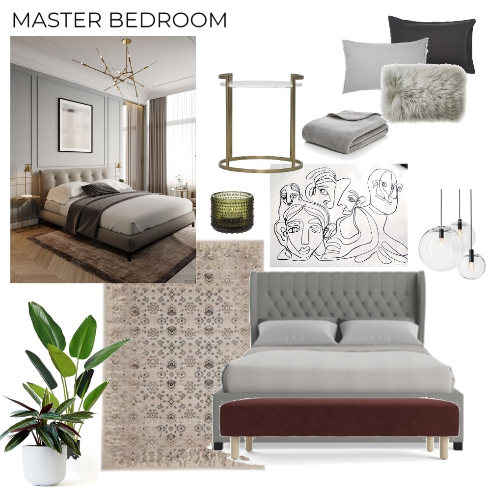 Bed Room Interior Design Mood Board by Ling on Style Sourcebook