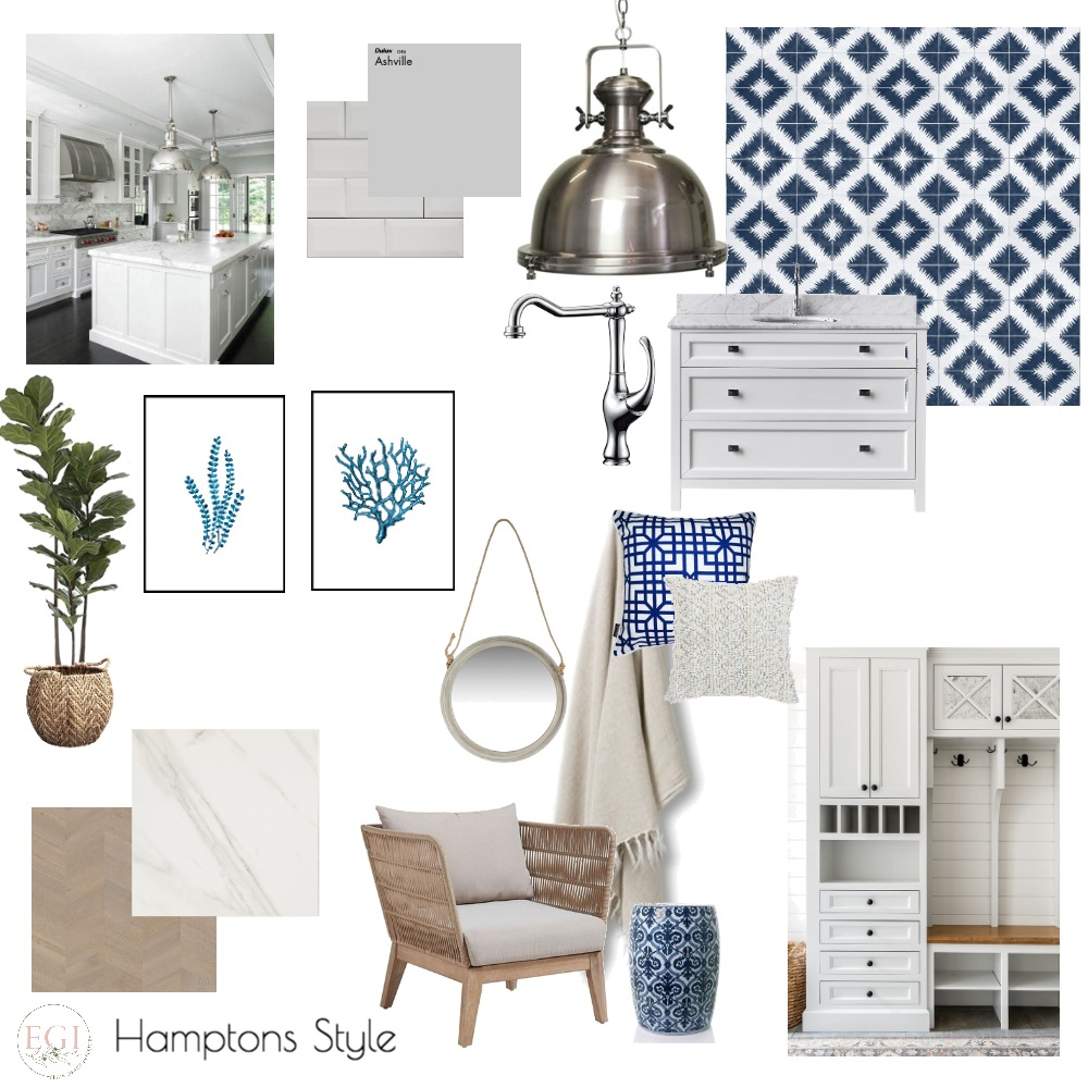 Hamptons Style Interior Design Mood Board by Eliza Grace Interiors on Style Sourcebook