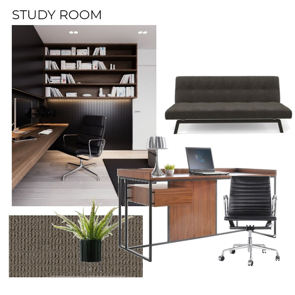 Study Interior Design Mood Board by Ling on Style Sourcebook