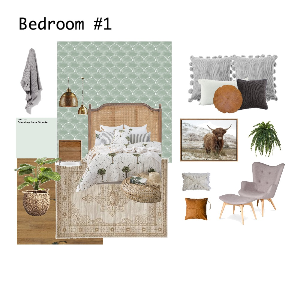 Bedroom #1 Interior Design Mood Board by miacatedodd on Style Sourcebook