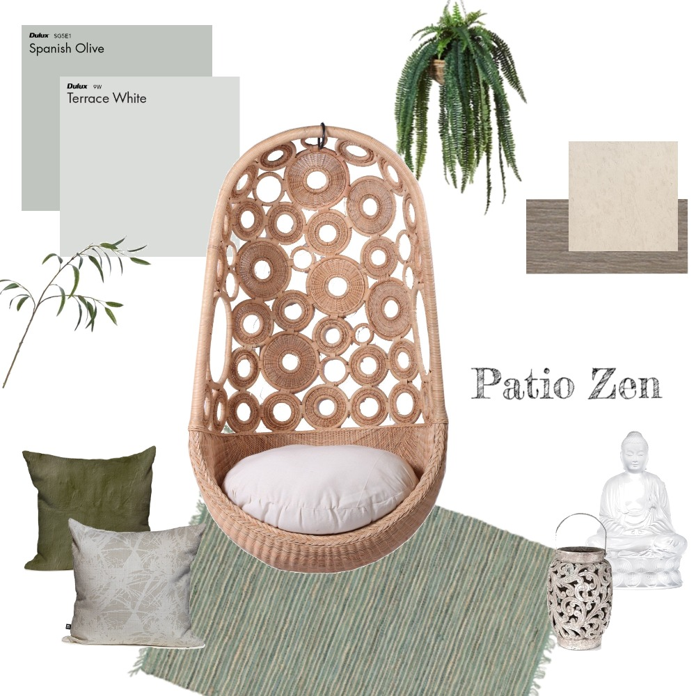 Patio Zen Interior Design Mood Board by TheBlushCollective on Style Sourcebook