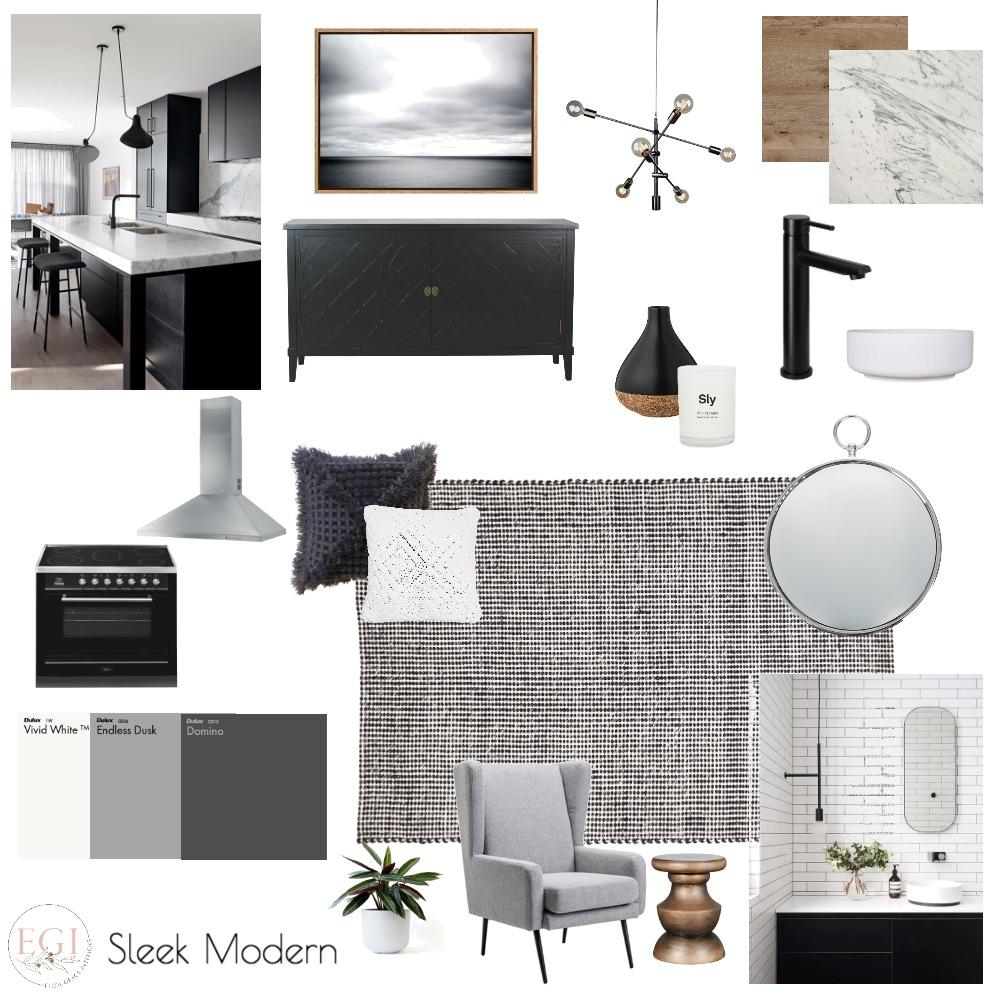 Sleek Modern Interior Design Mood Board by Eliza Grace Interiors on Style Sourcebook