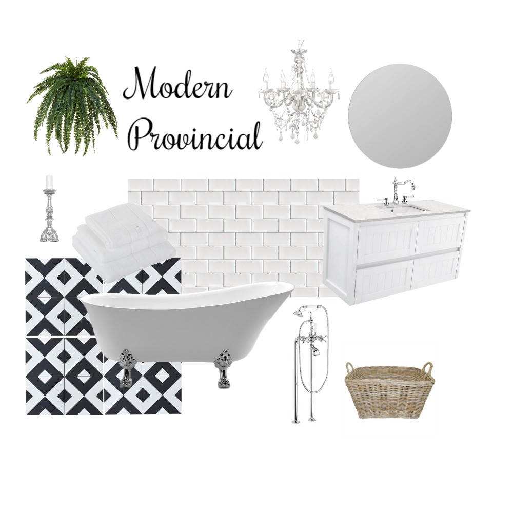 Modern Provincial Interior Design Mood Board by Northern Rivers Bathroom Renovations on Style Sourcebook