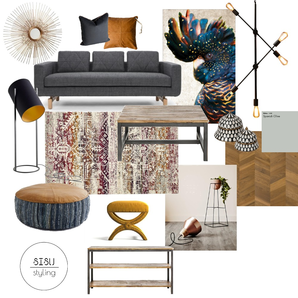Modern, industrial mustard Interior Design Mood Board by Sisu Styling on Style Sourcebook