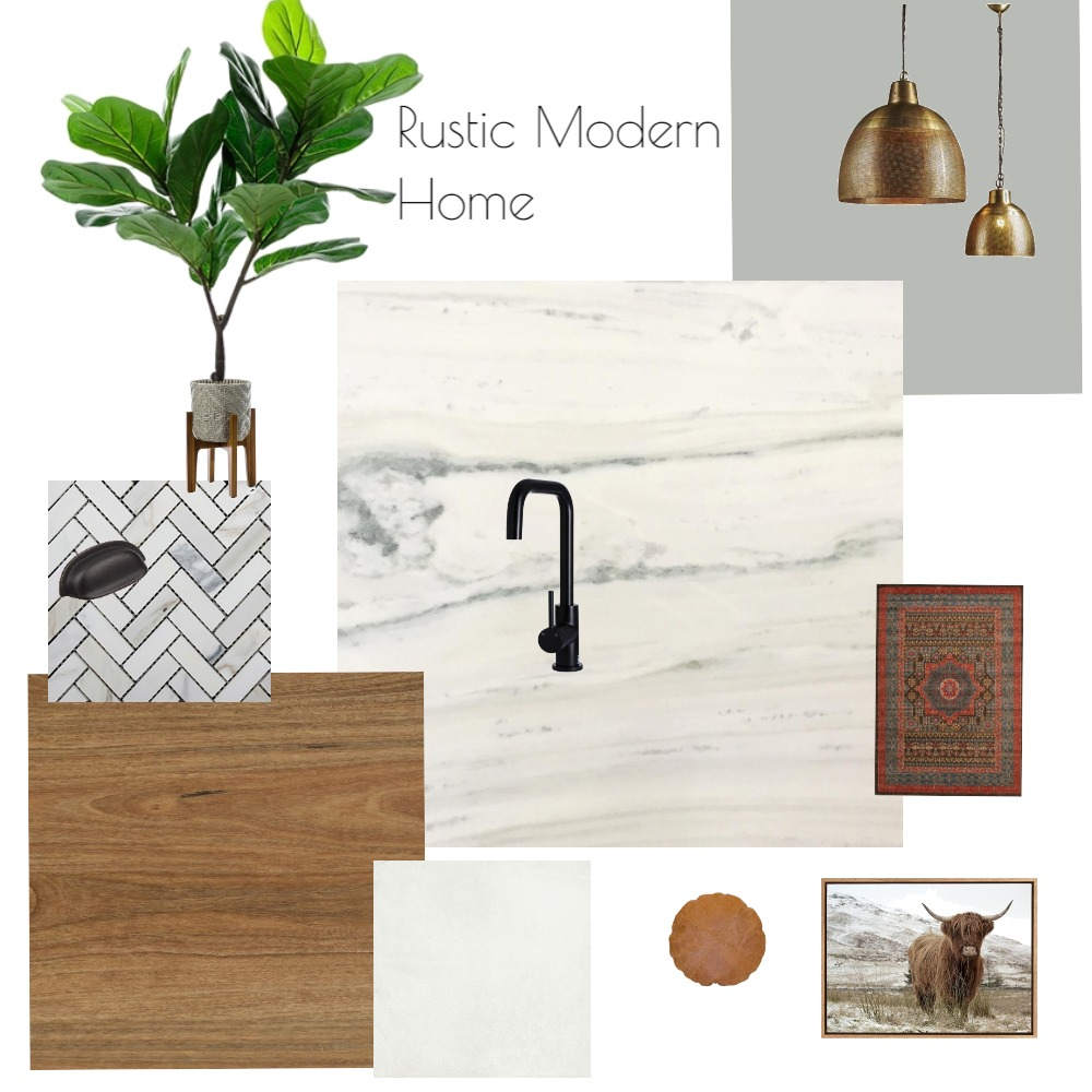 Rustic Modern Interior Design Mood Board by HannahC on Style Sourcebook