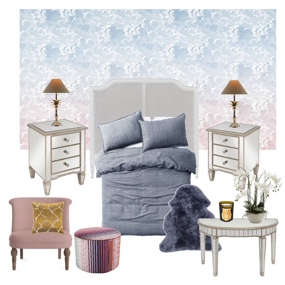 Floating in the Clouds - Bedroom Interior Design Mood Board by Wallpaper Trader on Style Sourcebook